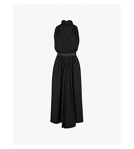 PRADA Halterneck twill midi dress (Nero