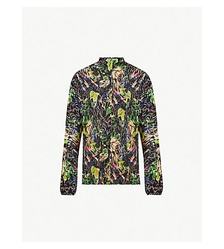 PRADA 花纹丝绉衬衣 (丛林 + 印刷品