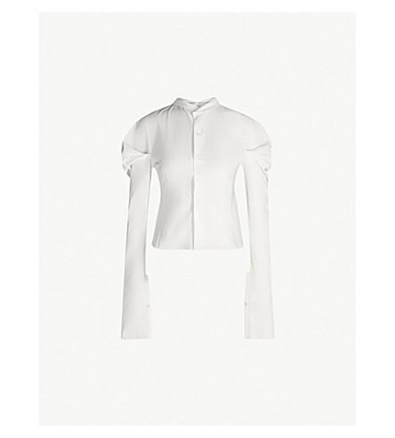 PHAEDO Puff-sleeve cotton-poplin shirt (White