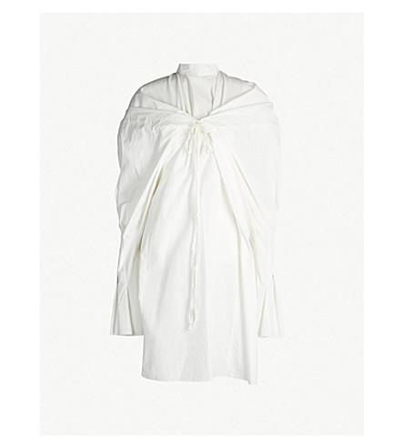 PHAEDO Cape-panel cotton-poplin shirt (White