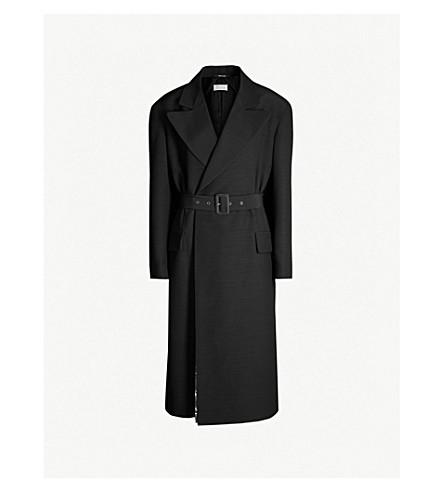 MAISON MARGIELA Metallic front-lined wool jacket (Black