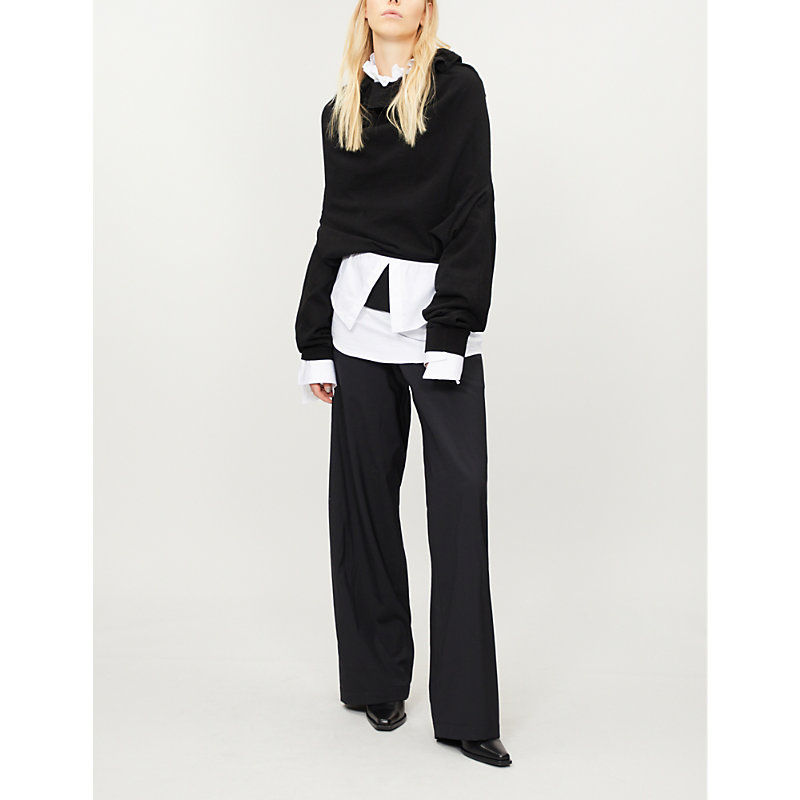 AGANOVICH Double-layered cotton jumper