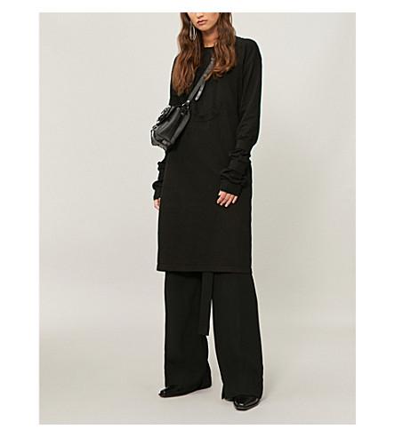 AGANOVICH分层平纹针织棉连衣裙 (黑色