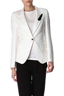 ANN DEMEULEMEESTER Feather-detail blazer