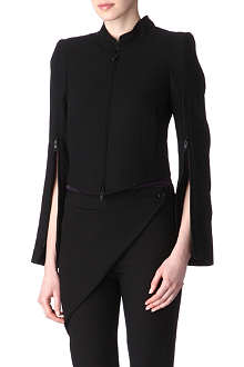 ANN DEMEULEMEESTER Zipped-sleeves jacket