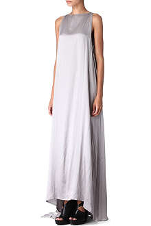 ANN DEMEULEMEESTER Draped silk gown