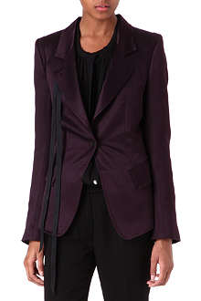 ANN DEMEULEMEESTER Satin ribbon-detailed blazer