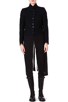 ANN DEMEULEMEESTER Wool and satin long coat