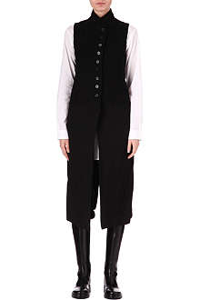 ANN DEMEULEMEESTER Wool and linen elongated waistcoat