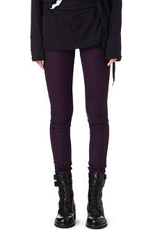 ANN DEMEULEMEESTER Fleece skinny-fit trousers