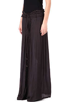 ANN DEMEULEMEESTER Pleat detail maxi skirt