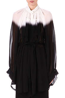 ANN DEMEULEMEESTER Silk-crepe gathered dress