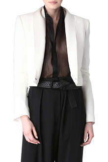 HAIDER ACKERMANN Crepe and satin jacket