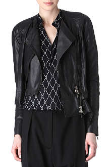 HAIDER ACKERMANN Detached-hem leather jacket