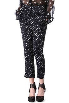 HAIDER ACKERMANN Polka-dot trousers