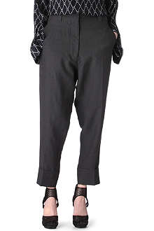 HAIDER ACKERMANN Cropped linen trousers