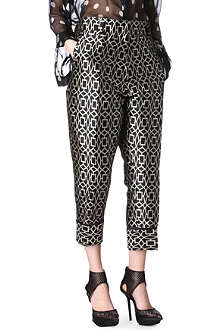 HAIDER ACKERMANN Cropped jacquard trousers