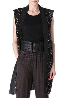 HAIDER ACKERMANN Polka-dot sleeveless jacket