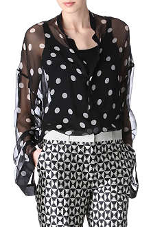 HAIDER ACKERMANN Polka-dot silk shirt