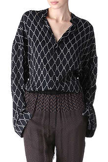 HAIDER ACKERMANN Beauregard printed satin shirt
