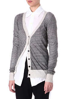 ANN DEMEULEMEESTER Striped cardigan