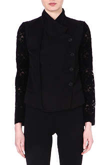 ANN DEMEULEMEESTER Flocked-sleeve jacket