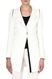 ANN DEMEULEMEESTER White cotton-blend jacket