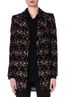 ANN DEMEULEMEESTER Flocked cotton coat