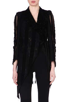 ANN DEMEULEMEESTER Sheer flocked jacket
