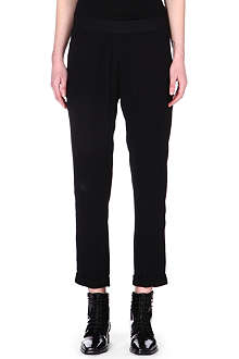 ANN DEMEULEMEESTER Cropped turn-up trousers