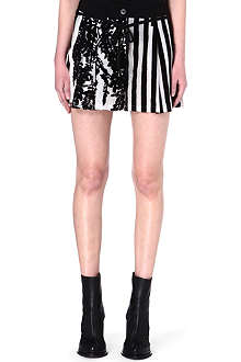 ANN DEMEULEMEESTER Striped cotton shorts