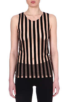 ANN DEMEULEMEESTER Striped sheer top