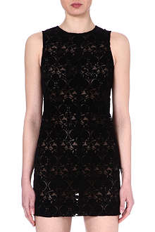 ANN DEMEULEMEESTER Flocked mini dress