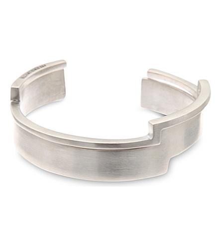 ANN DEMEULEMEESTER Set of 2 angular bracelets (Silver