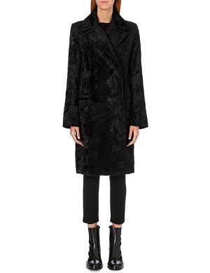 ANN DEMEULEMEESTER Faux-fur coat