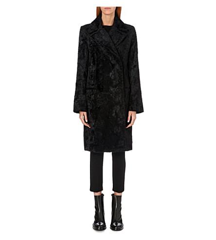 ANN DEMEULEMEESTER Faux-fur coat (Black