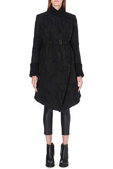 ANN DEMEULEMEESTER Embroidered organza coat