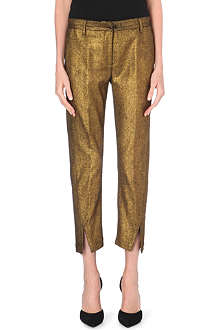 ANN DEMEULEMEESTER Metallic wool-blend trousers