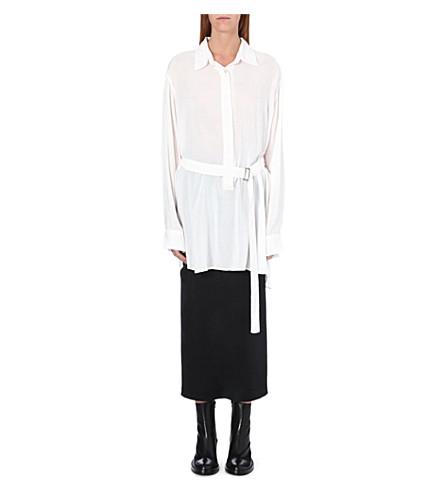 ANN DEMEULEMEESTER Long waist-tie shirt (Rosy
