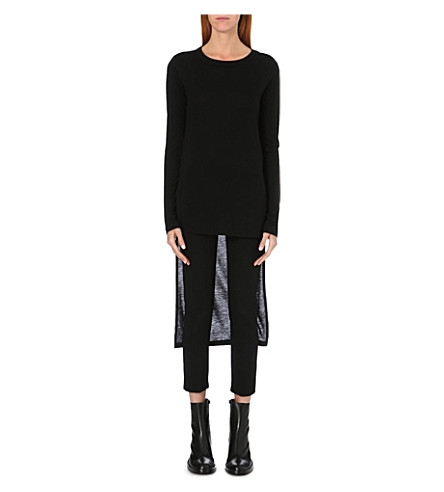 ANN DEMEULEMEESTER Dropped-hem top (Black
