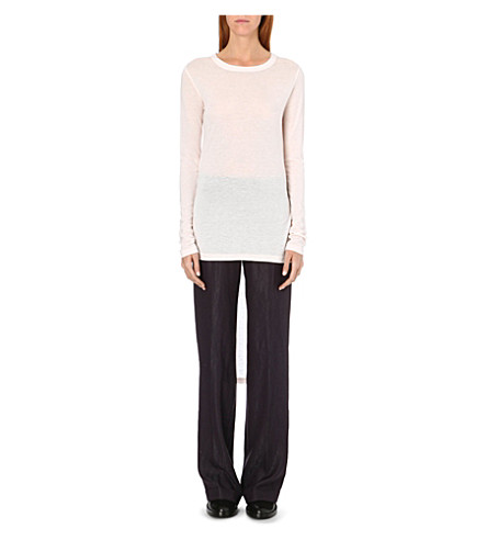 ANN DEMEULEMEESTER Dropped-hem top (Rosy