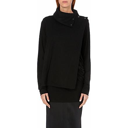 ANN DEMEULEMEESTER Asymmetric short coat (Black