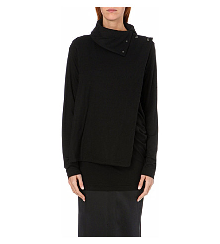 ANN DEMEULEMEESTER Asymmetric short coat (Black