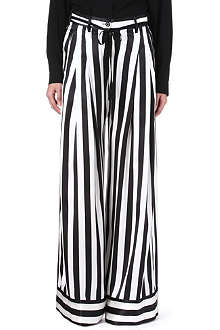 ANN DEMEULEMEESTER Striped wide-leg trousers