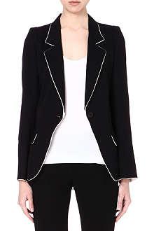 ANN DEMEULEMEESTER Contrast crepe blazer