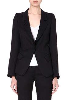 ANN DEMEULEMEESTER Wool-blend blazer