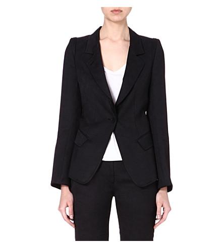 ANN DEMEULEMEESTER Wool-blend blazer (Black