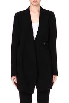 ANN DEMEULEMEESTER Long crepe blazer