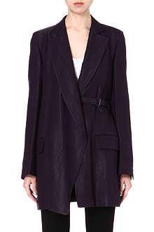 ANN DEMEULEMEESTER Belted long blazer