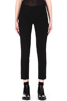 ANN DEMEULEMEESTER Slim-fit leather trousers